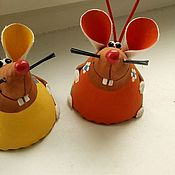 Колокольчики ручной работы. Ярмарка Мастеров - ручная работа Колокольчик Мышь. Handmade.