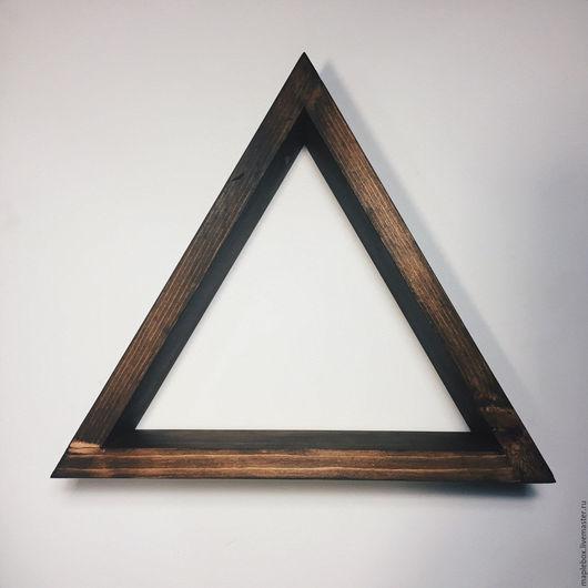Мебель ручной работы. Ярмарка Мастеров - ручная работа. Купить Треугольная полка №1. Handmade. Коричневый, полка из дерева, интерьер