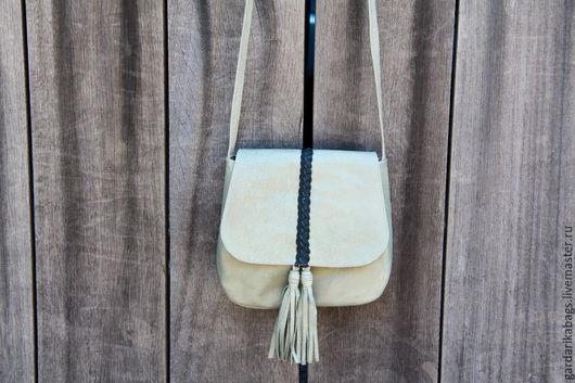 Женские сумки ручной работы. Ярмарка Мастеров - ручная работа. Купить Сумочки из кожи с кисточкой. Handmade. Разноцветный, сумка мини