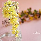 "Браслет с жемчугом Swarovski ""Pastel Yellow"""