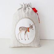 Подарки к праздникам handmade. Livemaster - original item pouch olenenok