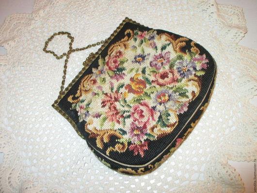 Винтажные сумки и кошельки. Ярмарка Мастеров - ручная работа. Купить Винтаж сумочка ,гобелен. Handmade. Комбинированный, Гобелен