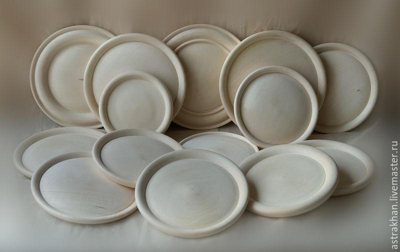 Точеные тарелки из липы, Заготовки для декупажа и росписи, Астрахань,  Фото №1