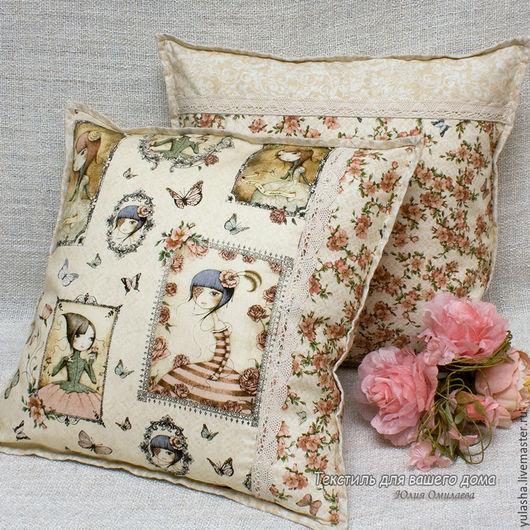 Набор красивых декоративных подушек для детской комнаты. Подушка декоративная в подарок  для девочки .8 марта Текстиль для детской гостиной. Подарок на любой случай, день рождения  дочери девушке.