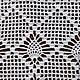 Текстиль, ковры ручной работы. Заказать Вязаная прямоугольная салфетка. Марина Шван. Ярмарка Мастеров. Ажурная салфетка, филейное вязание