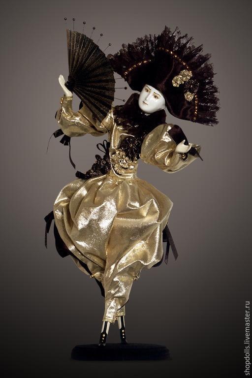 Коллекционные куклы ручной работы. Ярмарка Мастеров - ручная работа. Купить Кукла Кавалер золотой с цветами. Handmade. Золотой