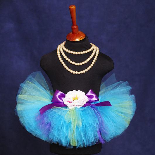 """Одежда для девочек, ручной работы. Ярмарка Мастеров - ручная работа. Купить """"Бирюзовая мечта"""" пышная юбка-пачка из фатина для малышей. Handmade."""