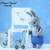 Куклы и игрушки ручной работы. Ярмарка Мастеров - ручная работа Лучшие друзья, зайчонок, вязаная игрушка. Handmade.