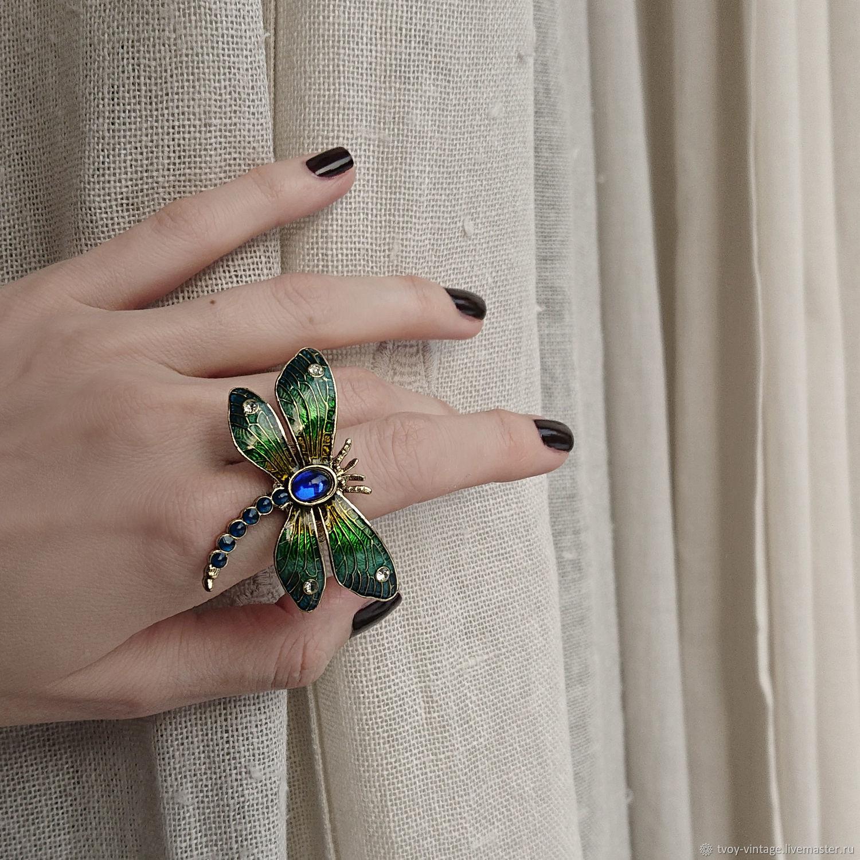Винтаж: Редкое кольцо 1928 Jewelry «Чудесная Лалик», Кольца винтажные, Москва,  Фото №1