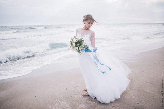 Одежда и аксессуары ручной работы. Ярмарка Мастеров - ручная работа. Купить Будуарное платье White romantic. Handmade. Белый
