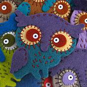 Куклы и игрушки ручной работы. Ярмарка Мастеров - ручная работа Сова-брошка. Handmade.