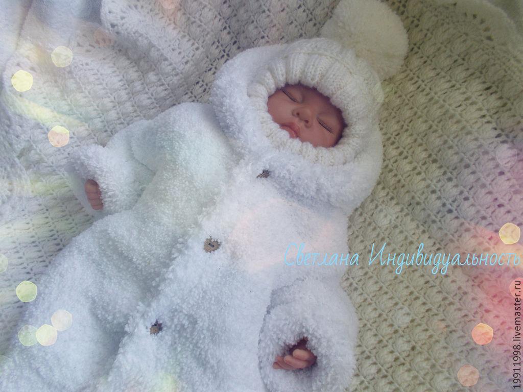 схемы для вязания новорожденным конверт