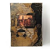 Канцелярские товары ручной работы. Ярмарка Мастеров - ручная работа Старинный замок, стимпанк. Натуральная кожа. Handmade.