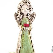 Для дома и интерьера ручной работы. Ярмарка Мастеров - ручная работа Статуэтка ангелочка, статуэтки ангелов. Handmade.