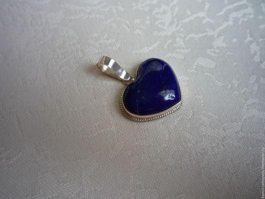 Кулоны, подвески ручной работы. Ярмарка Мастеров - ручная работа. Купить Кулон из лазурита. Handmade. Синий камень, индиго