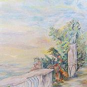 Дизайн и реклама ручной работы. Ярмарка Мастеров - ручная работа Морской пейзаж-фреска в зале.. Handmade.