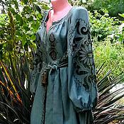 Одежда handmade. Livemaster - original item The dress is embroidered the