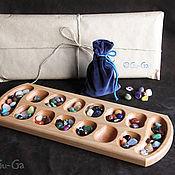 Сувениры и подарки ручной работы. Ярмарка Мастеров - ручная работа КАЛАХ настольная игра с натуральными самоцветами. Handmade.