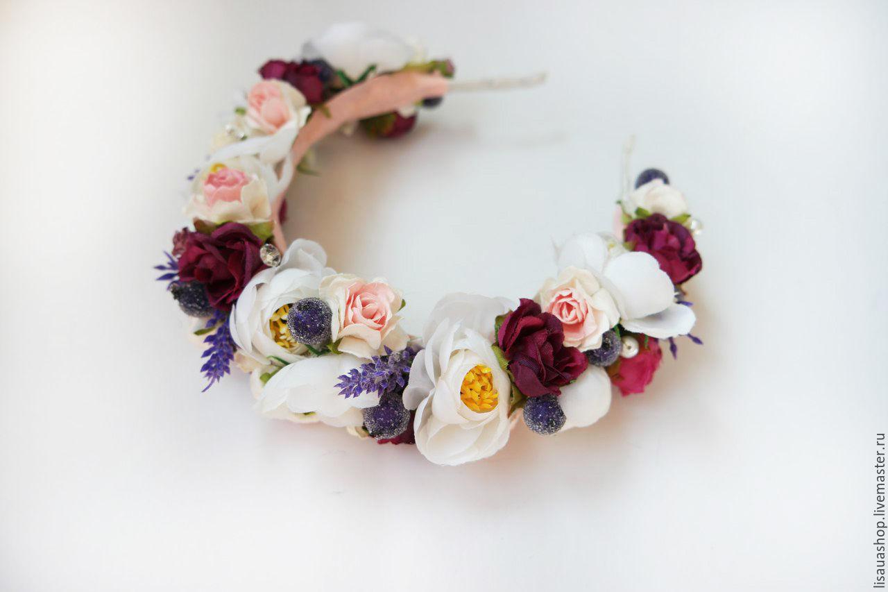 Фото венки из цветов на голову 145