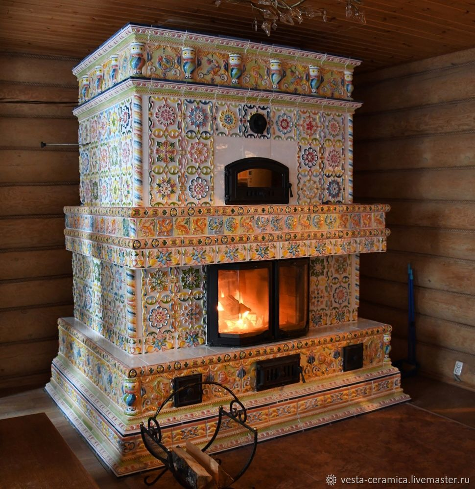 Tiled stove 'Star of the North', Fireplaces, Moscow,  Фото №1