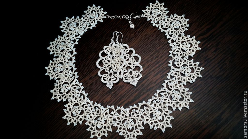 Lace set (necklace 'Inspiration'earrings 'Bride', Sets accessories, Kishinev,  Фото №1