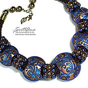 Украшения handmade. Livemaster - original item Necklace made of polymer clay, beads Blizzard (528). Handmade.