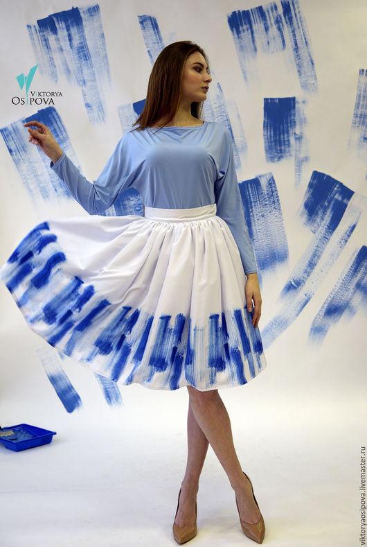"""Юбки ручной работы. Ярмарка Мастеров - ручная работа. Купить Пышная юбка """"краски"""". Handmade. Белый, юбка нарядная"""