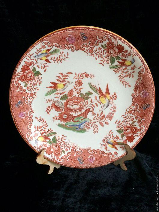 Винтажная посуда. Ярмарка Мастеров - ручная работа. Купить Антикварная тарелочка, Англия, начало прошлого века. Handmade. Комбинированный