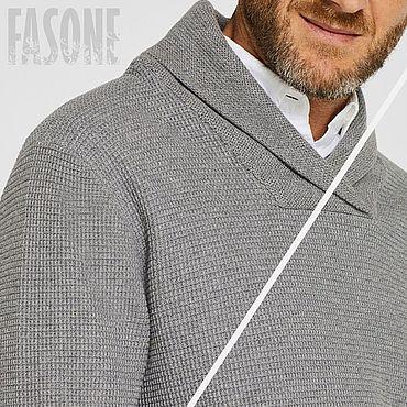 Clothing handmade. Livemaster - original item Jerseys: Mens sweater gray
