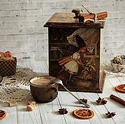 Посуда handmade. Livemaster - original item Box Little helper. Box decoupage. Handmade.