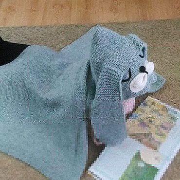 Текстиль ручной работы. Ярмарка Мастеров - ручная работа Плед с капюшоном. Handmade.