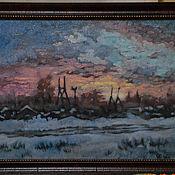 """Картины ручной работы. Ярмарка Мастеров - ручная работа """" Зимняя ночь"""". Handmade."""