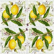 Материалы для творчества handmade. Livemaster - original item Napkins for decoupage citrus lemons oranges. Handmade.