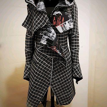Одежда ручной работы. Ярмарка Мастеров - ручная работа Пальто с разноцветной подкладкой. Handmade.