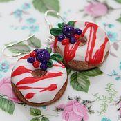 Украшения ручной работы. Ярмарка Мастеров - ручная работа Серьги-пончики. Handmade.