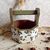 Для дома и интерьера ручной работы. Ярмарка Мастеров - ручная работа Черничное лето - корзинка. Handmade.