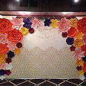 Свадебный салон ручной работы. Ярмарка Мастеров - ручная работа Прес-волл разноцветный из бумажных цветов (аренда). Handmade.