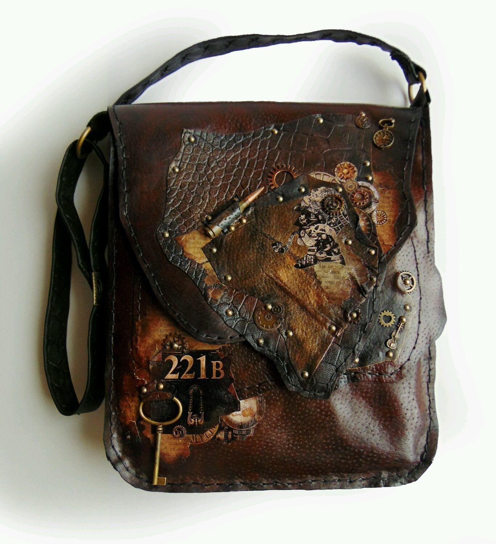 5f3f4971f3b7 Мужские сумки ручной работы. Ярмарка Мастеров - ручная работа. Купить Сумка  мужская кожаная Шерлок ...