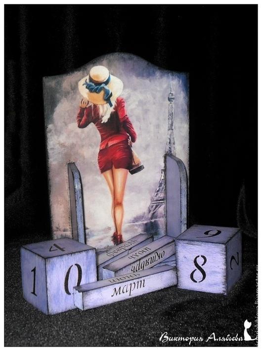 Вечный календарь, календарь с кубиками, календарь ручной работы, календарь деревянный, купить календарь, календарь для интерьера
