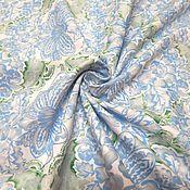 Материалы для творчества ручной работы. Ярмарка Мастеров - ручная работа Американский хлопок. Голубые цветы.. Handmade.