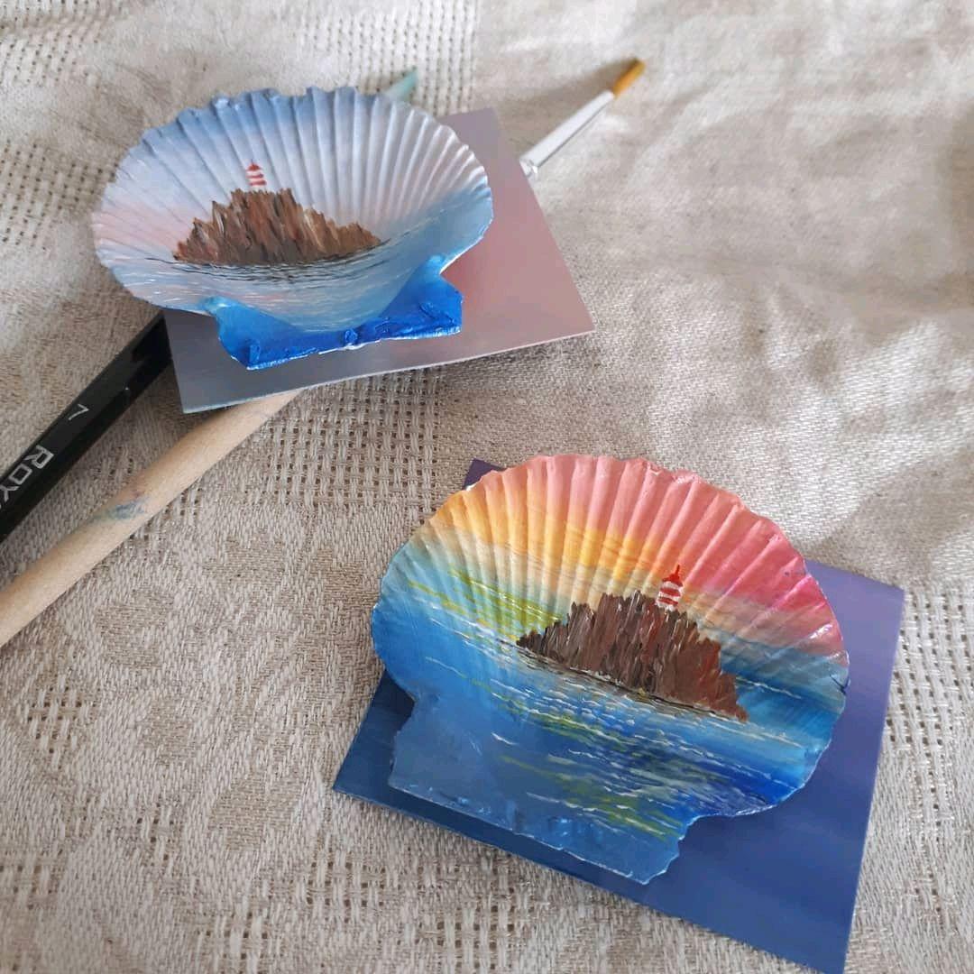 Магниты ручной работы. Ярмарка Мастеров - ручная работа. Купить Магнит ручной работы на ракушке. Handmade.