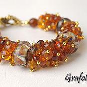Украшения handmade. Livemaster - original item Amber bracelet buckwheat honey. Handmade.