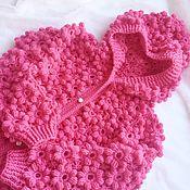 Работы для детей, handmade. Livemaster - original item Blouse Floral in fuchsia. Handmade.