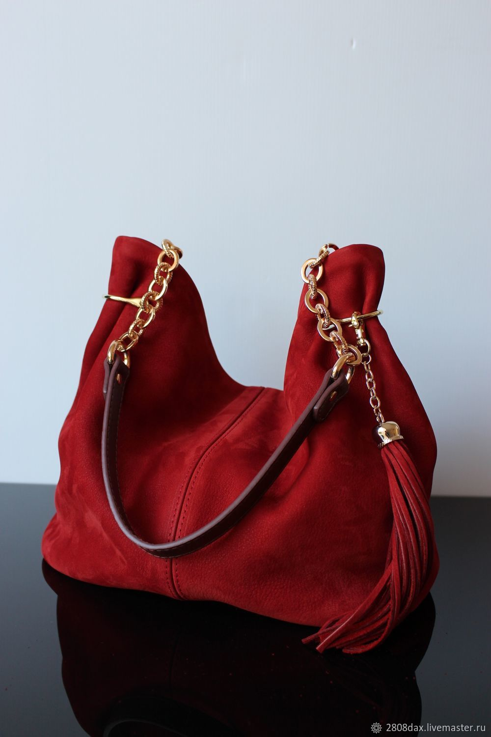Granville Terracotta Red Suede Bag Olga Sluxurycreation