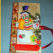 Открытки handmade. Livemaster - original item Chocolate Christmas. Handmade.