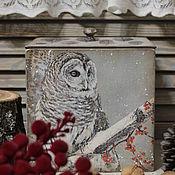 """Для дома и интерьера ручной работы. Ярмарка Мастеров - ручная работа Короб """" Совушка """". Handmade."""