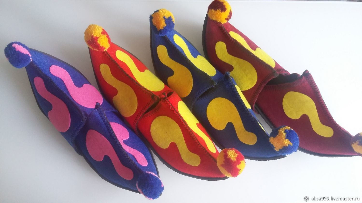Colored felt Slippers-sultanas, Slippers, Moscow,  Фото №1
