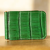 Сумки и аксессуары handmade. Livemaster - original item Wallet with money clip crocodile leather. Handmade.