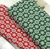 Материалы для творчества ручной работы. Ярмарка Мастеров - ручная работа 2 цвета Хлопок К3-35, К3-36 снежинки Корея. Handmade.