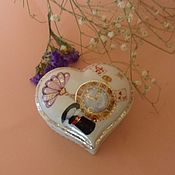 "Для дома и интерьера handmade. Livemaster - original item Porcelain jewerly Box ""With all my heart"". Handmade."